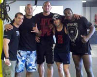 Doug Balzarini with with Brandon Vera, Travis Browne, Dominick Cruz, and Phil Davis