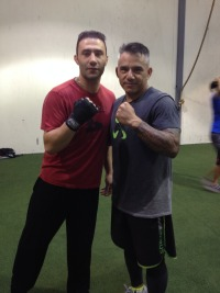 "Julio Martinez with UFC veteran Karo ""The Heat"" Parisyan"